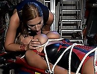 Sexy young babes Carol and Jannete in bondage set of prices