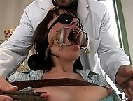 Dana`s dental visit gets her mouth and ass fucked!