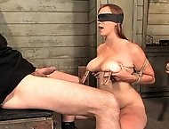 Candidate slut Bella Rossi applies for slave training