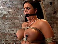 Bound in a chair with a vibrator perfectly stuck on her clitLets just watch her suffer and cum!