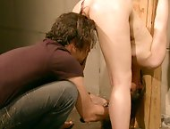 Creampie and Candlewax in a BDSM maledom hardcore