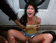 Filthy Whore Fucked at the Laundromat