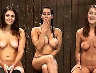 3 girls in metal bondage, hard helpless orgasms, squirting!  All three tortured and made to cum!